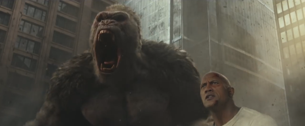 This new trailer for Rampage reminds you that it's still happening screenshot