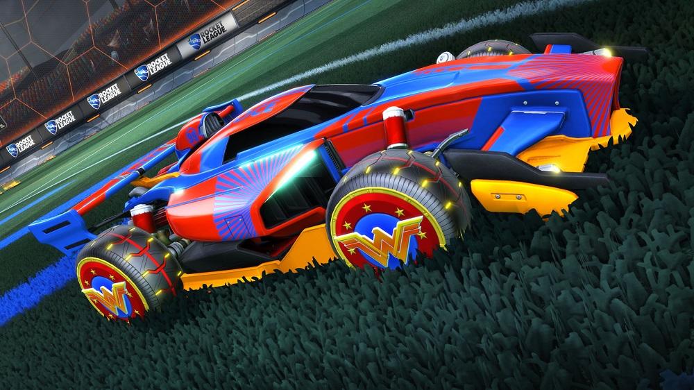 DC Super Heroes content hitting Rocket League next month screenshot