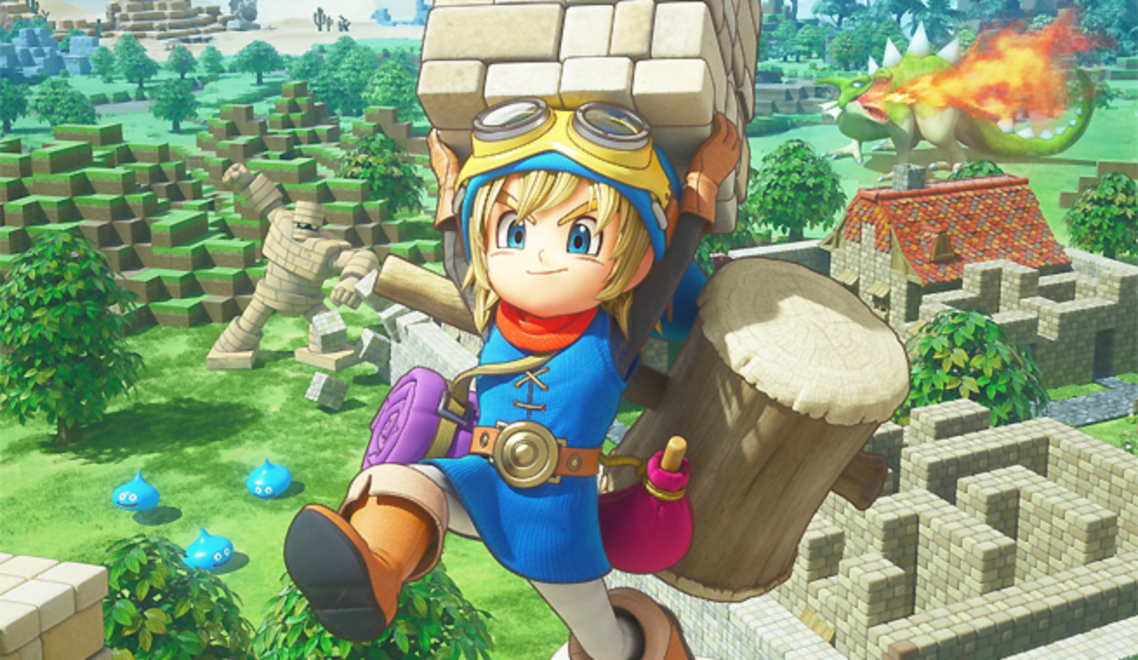 The build limit for Dragon Quest Builders 2 will be three times the size of the original screenshot