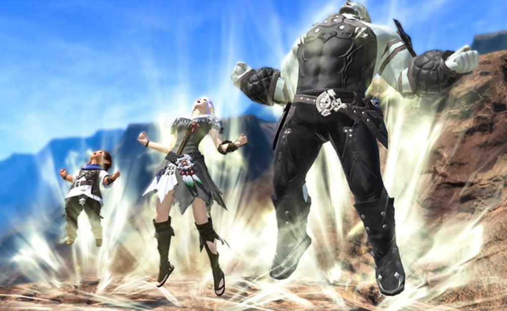 Final Fantasy XIV now has a Dragon Ball style power-up emote screenshot