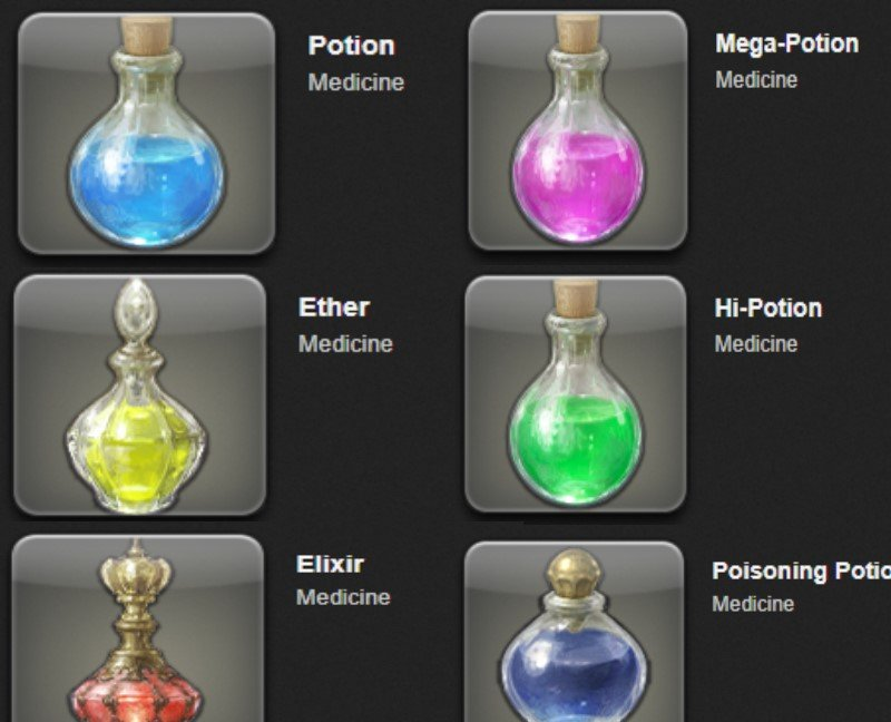 Useless potions