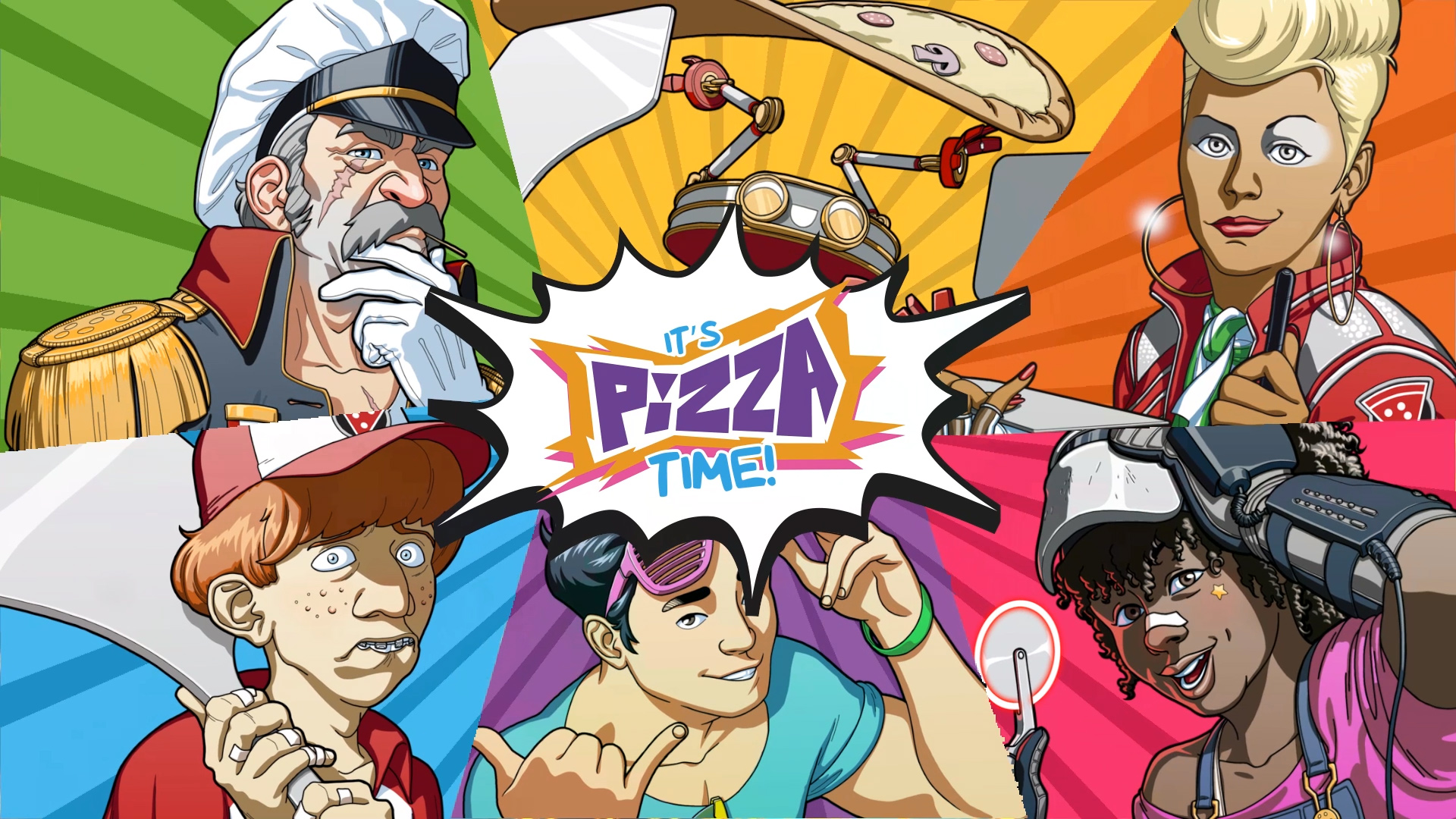 Pizza Titan Ultra is a game about delivering pizzas in a mech screenshot