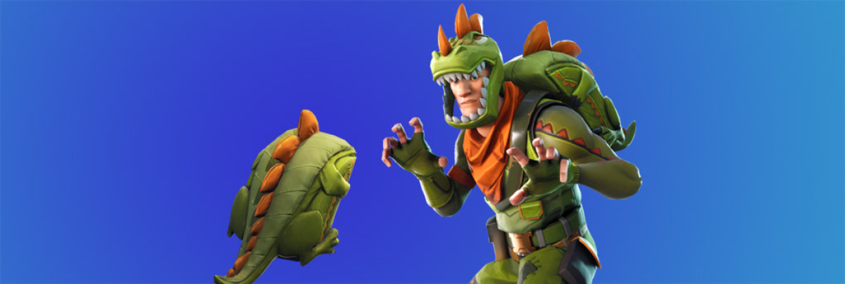 You need to watch this savage backflipping dinosaur kill in Fortnite screenshot