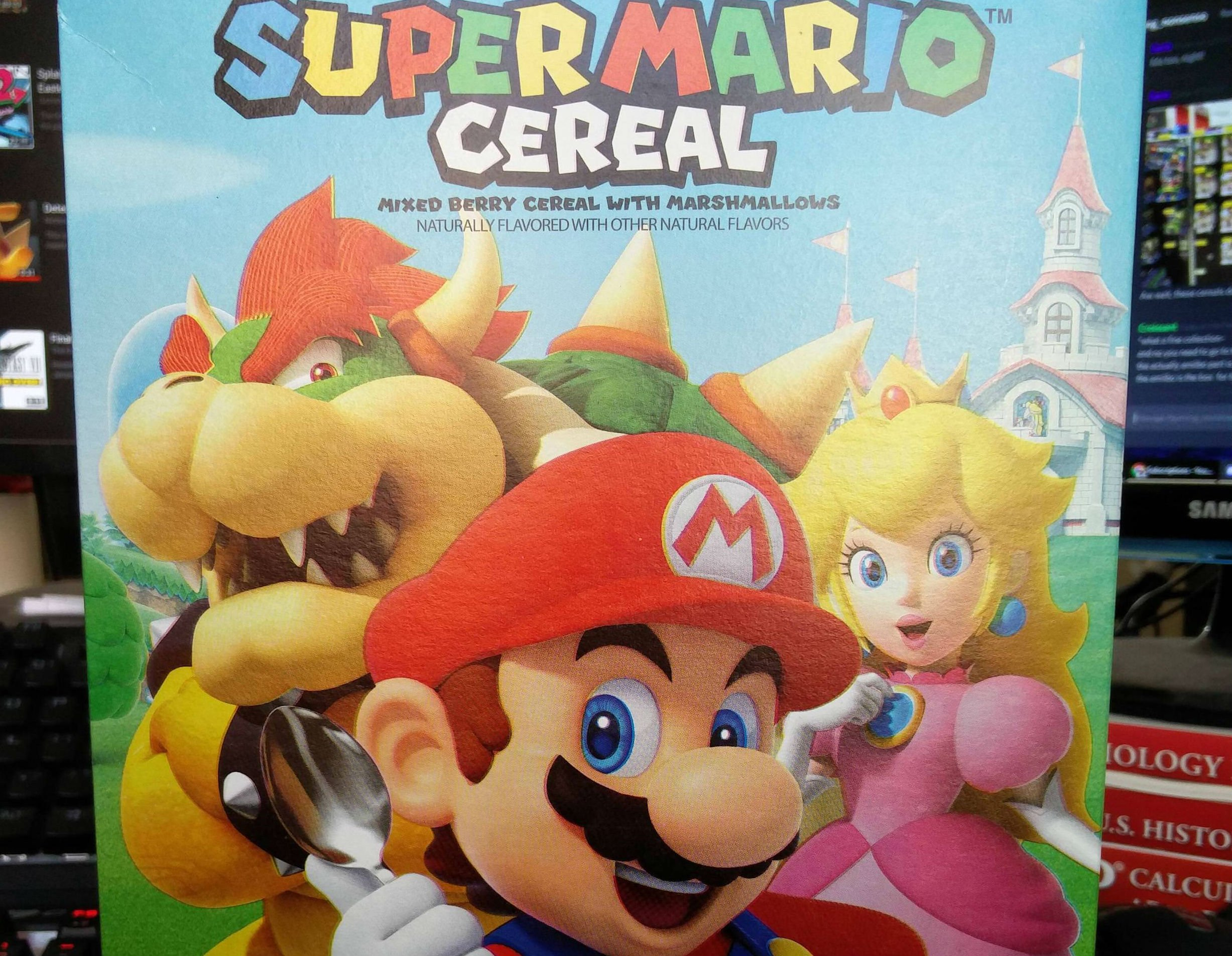 Super Mario Cereal now for sale without the amiibo functionality screenshot