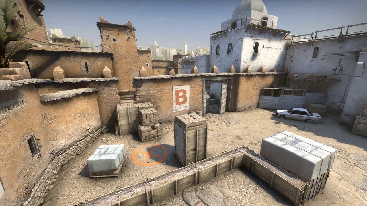 In only a few days, someone made de_dust2 in Far Cry 5 screenshot