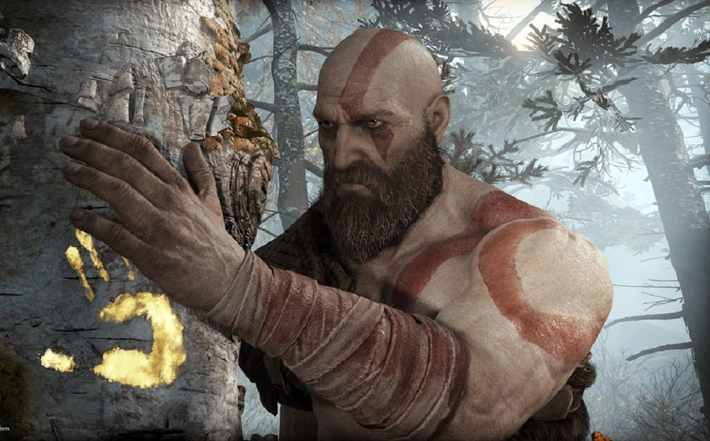 God of War has added an option to increase in-game text size