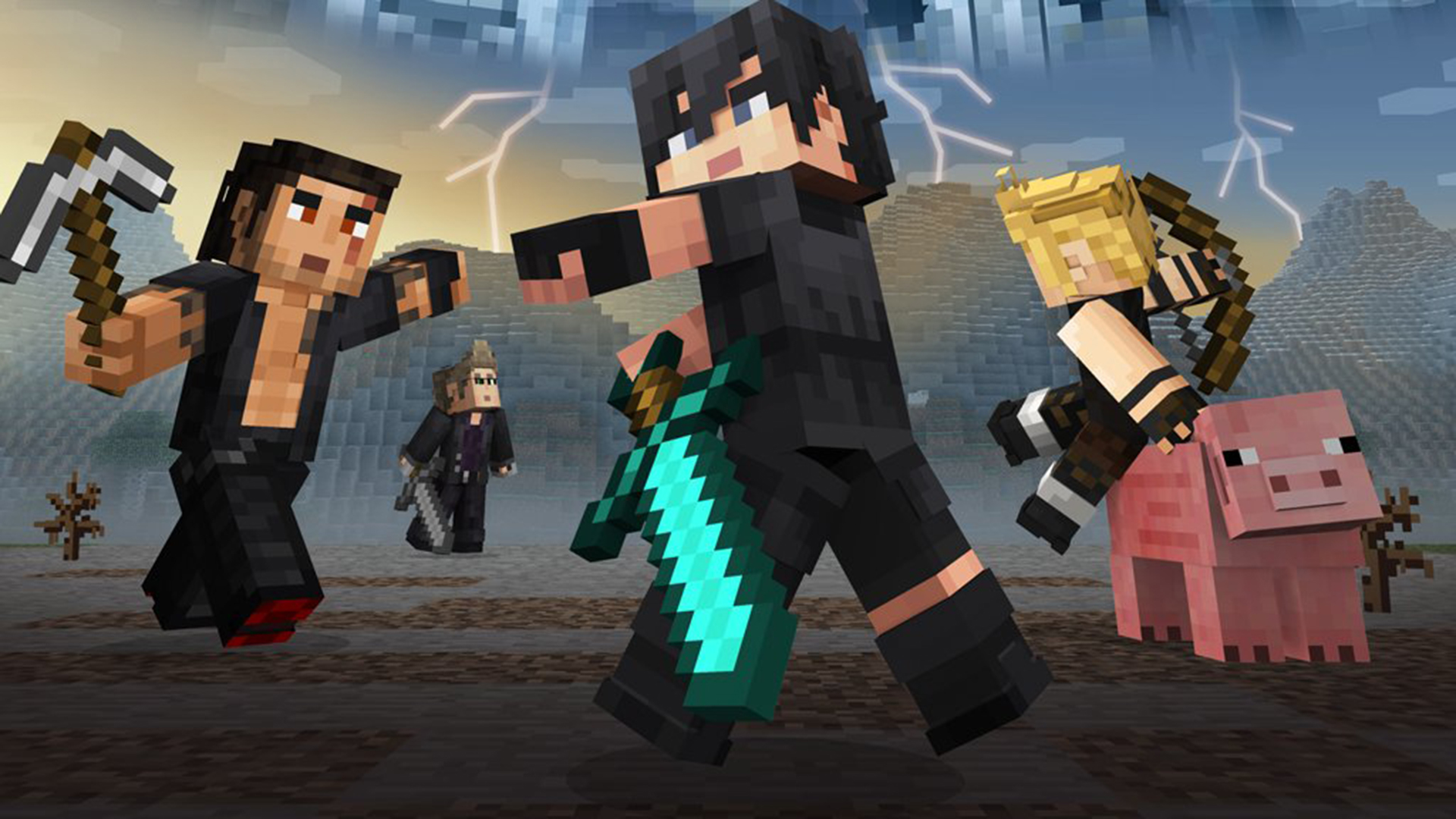 Noctis and pals are heading to Minecraft with a Final Fantasy XV skin pack screenshot
