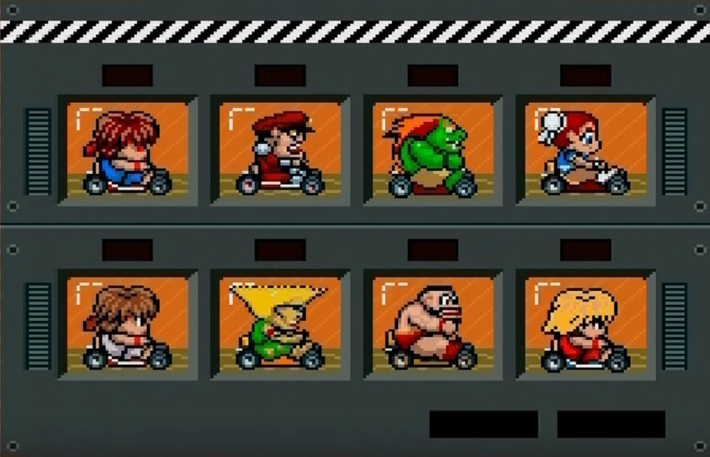 Check out this cool Street Fighter hack for Super Mario Kart screenshot