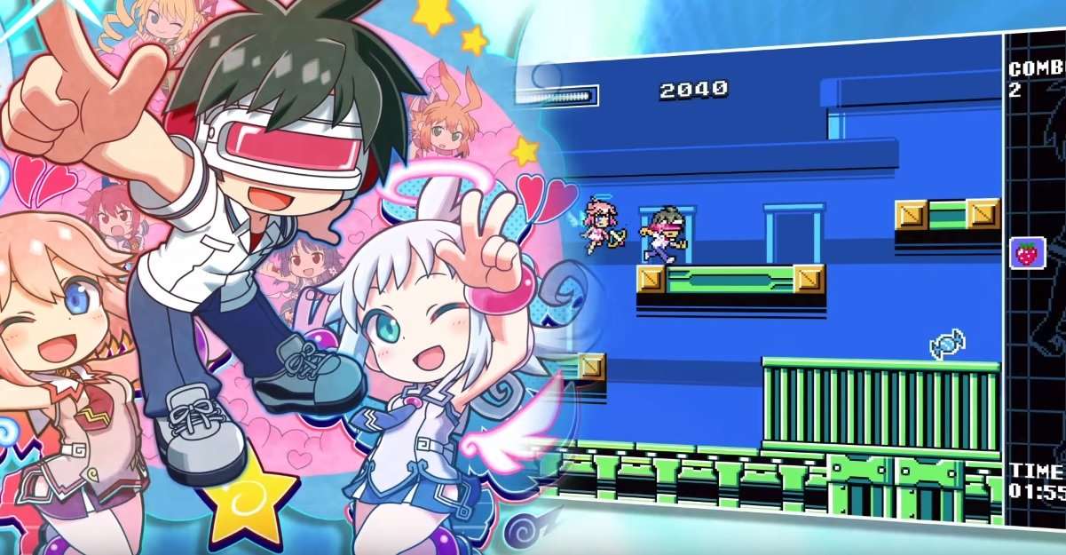 Mighty Gunvolt Burst just added the protagonist from the first Gal Gun screenshot