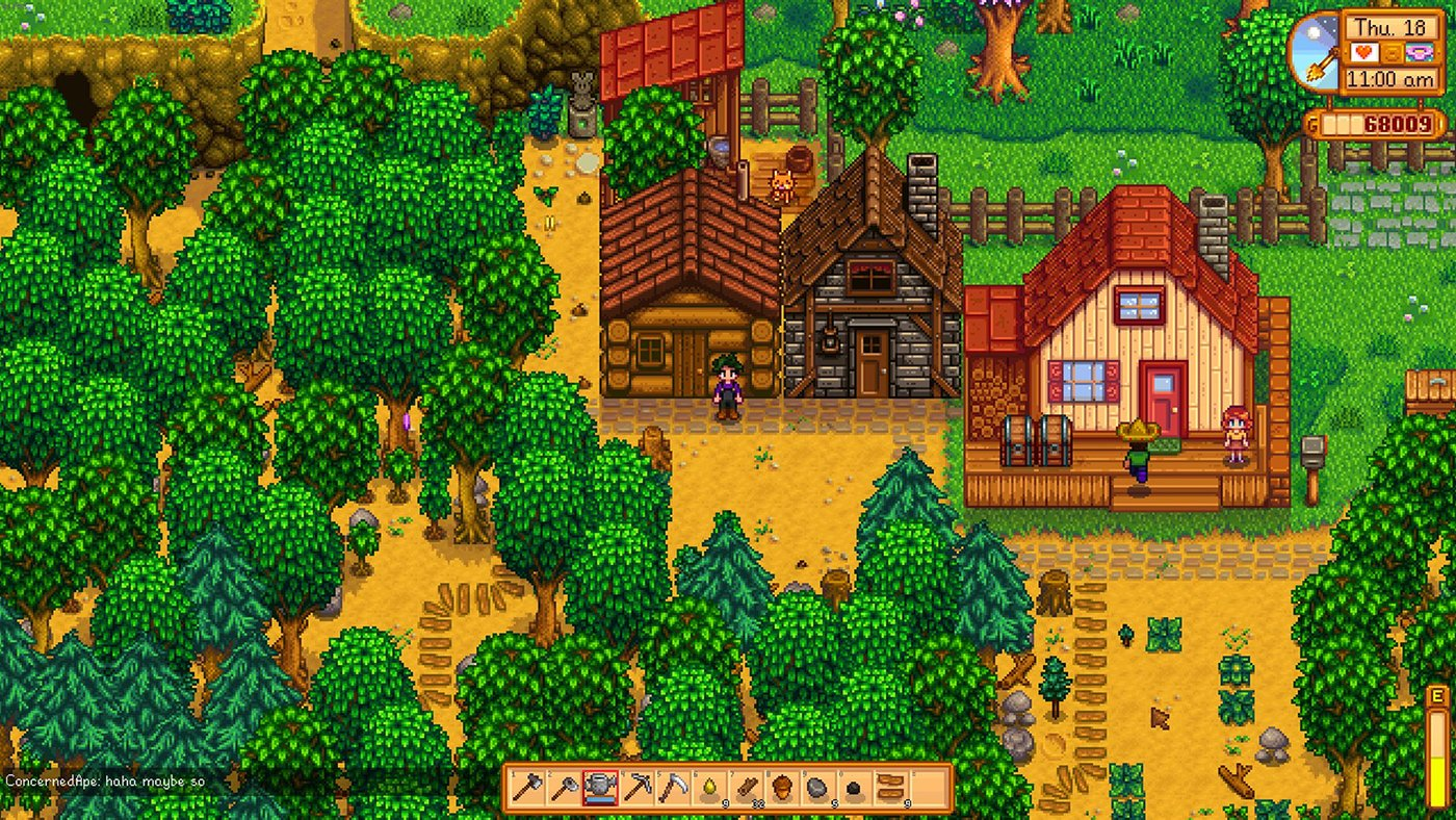 Stardew Valley works great in co-op and you can test it out
