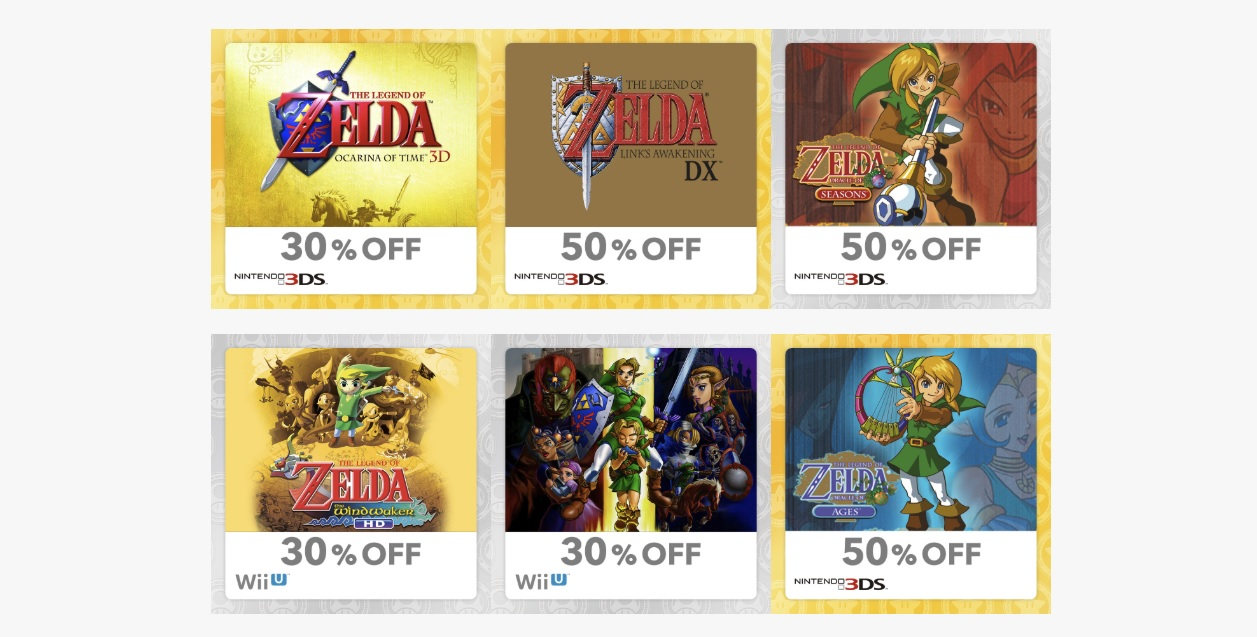 My Nintendo mixes up its rewards with Zelda-themed items screenshot