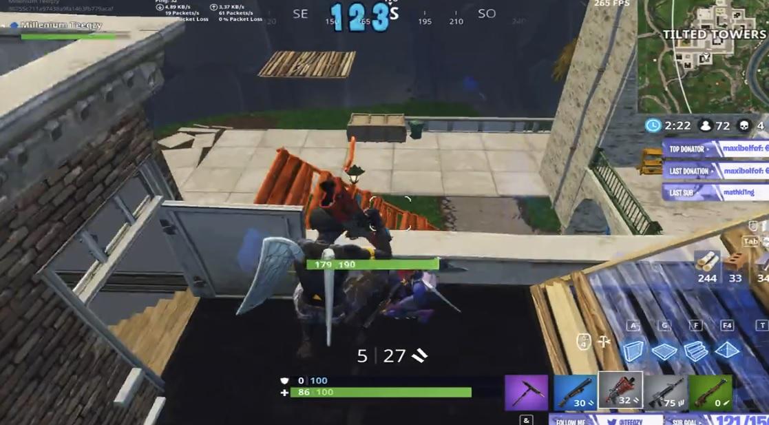 Player wins Fortnite match with an astounding 43 kills screenshot