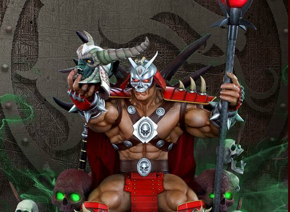 This Shao Kahn statue reminds me of how imposing he was in the original Mortal Kombat games screenshot