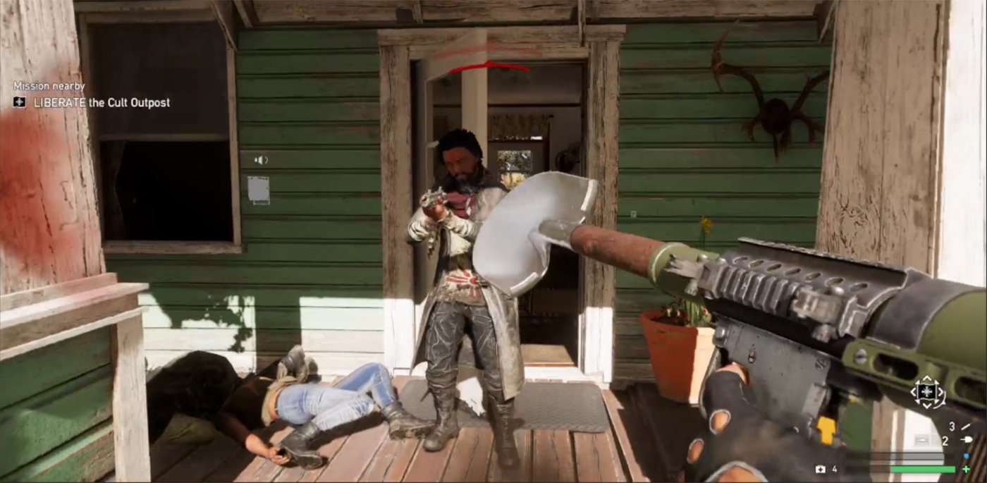 Far Cry 5's new shovel gun is as ridiculous as it sounds screenshot