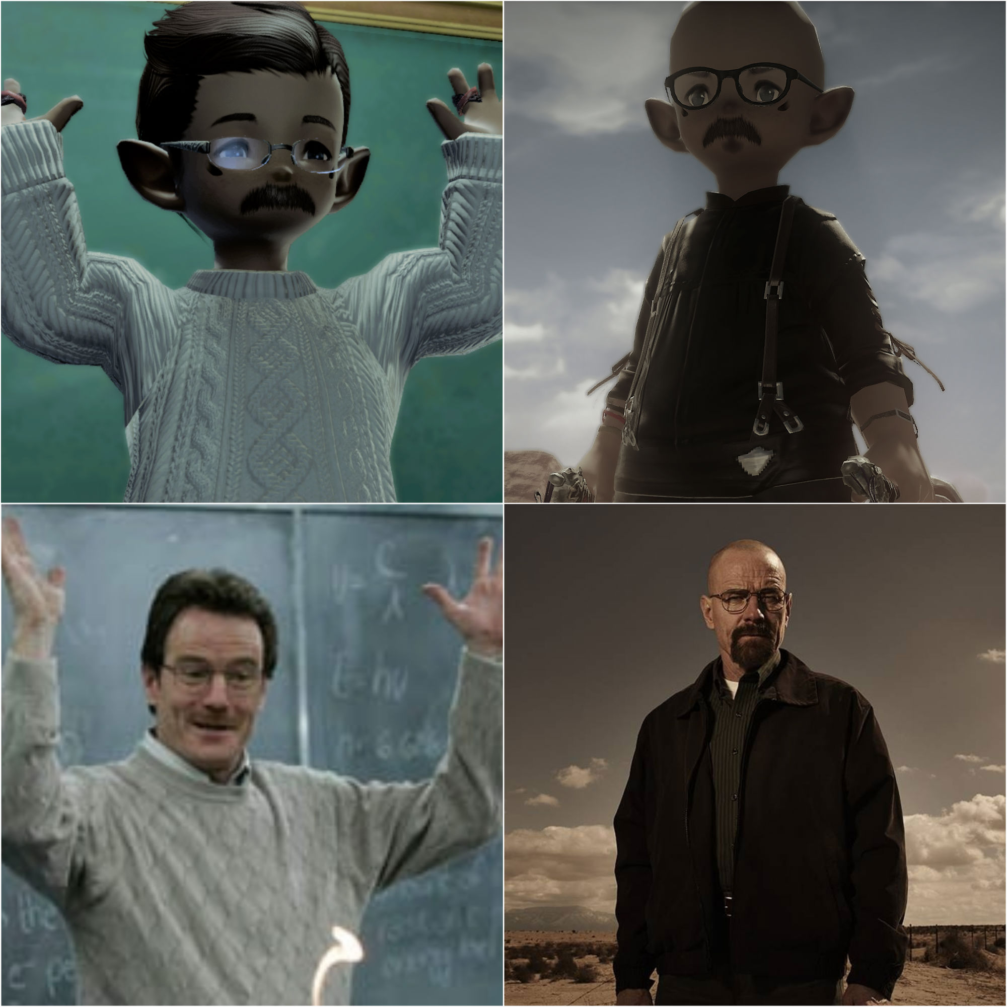 Oh hell yes, this Breaking Bad Final Fantasy XIV cosplay is