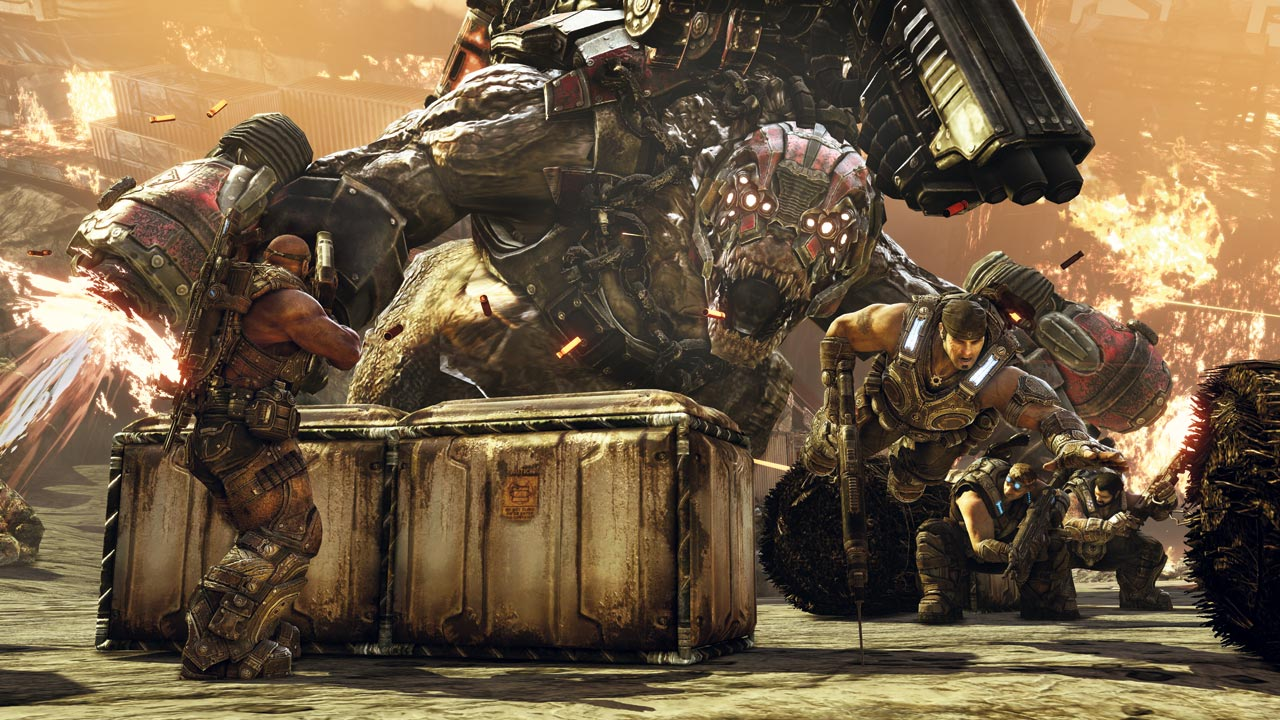 Gears of War head wants the Brumak in Monster Hunter screenshot