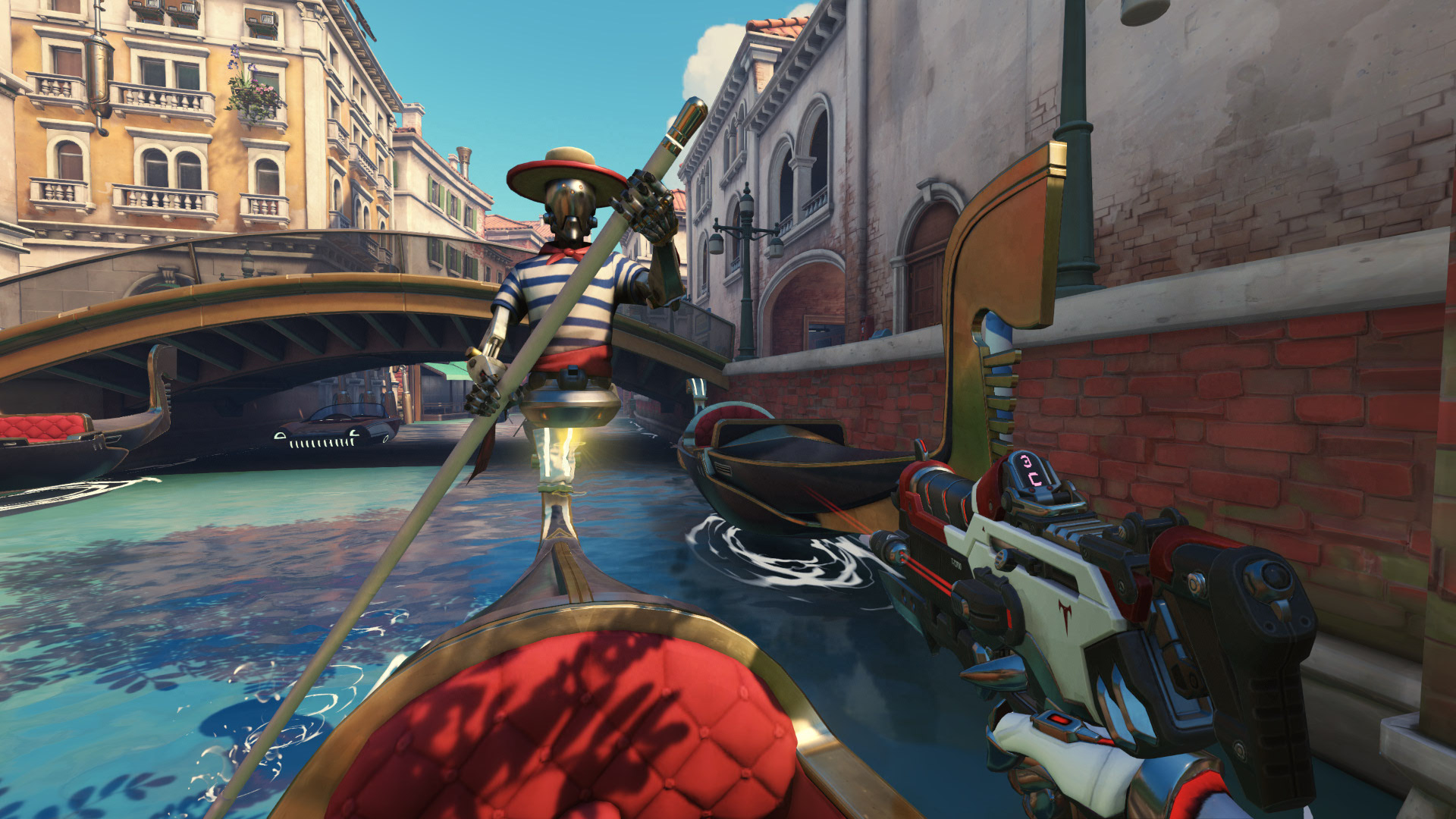 Overwatch currently has a bug that gives you play of the game for murdering gondoliers  screenshot