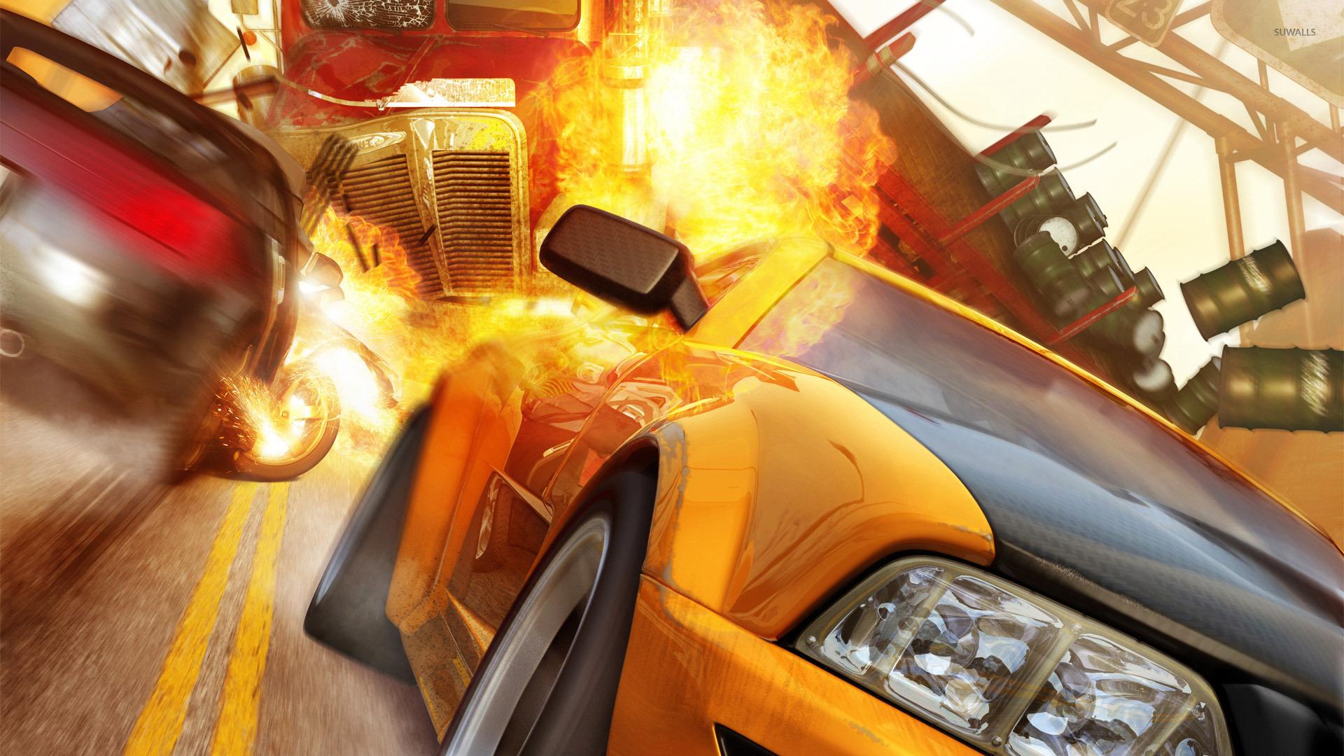 Burnout Revenge, aka the best Burnout game, is now backward