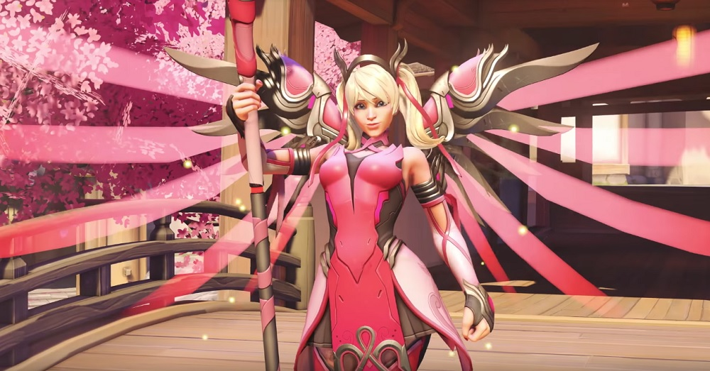 All proceeds from new Overwatch Mercy skin will be donated to Breast Cancer Research Foundation screenshot
