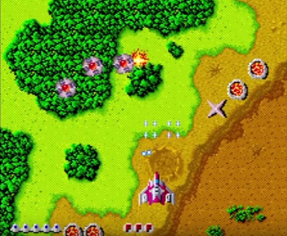 '80s shmup Terra Cresta returns on Nintendo Switch screenshot