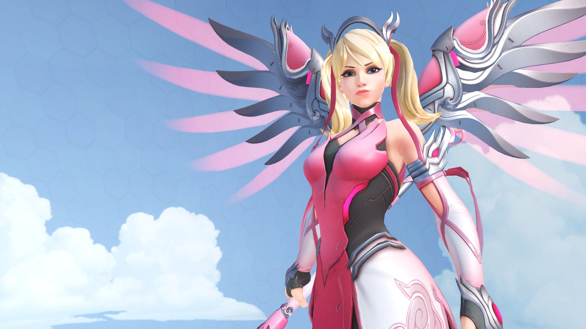 Sony says they're not making any profits from the Overwatch charity Mercy skin screenshot