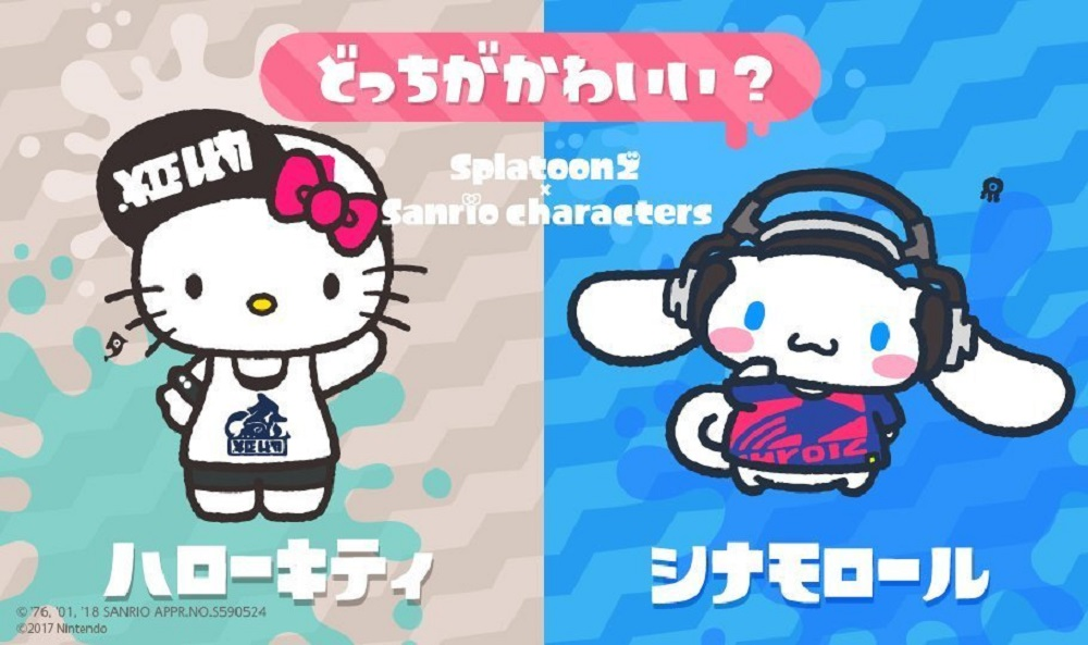 Hello Kitty and her pals will throw down in Japan's Splatoon 2 splatfest screenshot