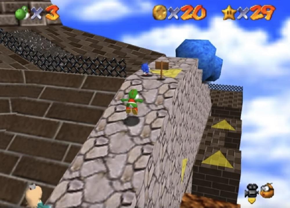 Fan Project Super Mario 64 Online adds Sonic characters screenshot