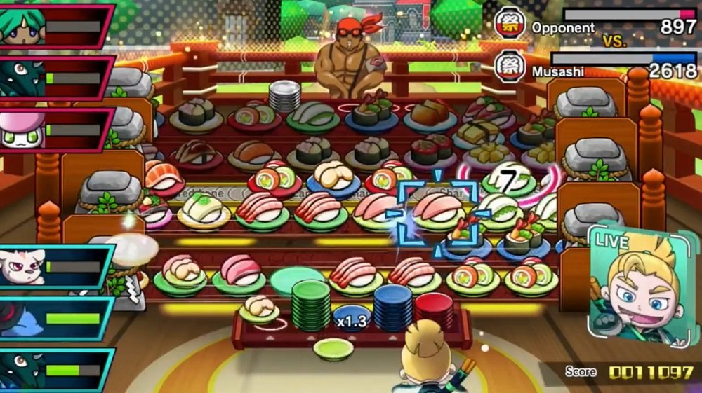 Shoot for sashimi in Sushi Striker: Way of the Sushido's Switch trailer screenshot