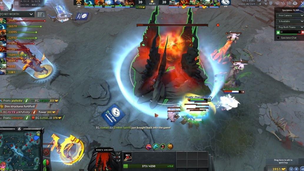 This game winning backdoor DOTA 2 play is one for the ages screenshot