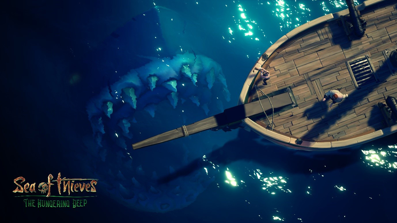 There's a Megalodon lurking in Sea of Thieves screenshot
