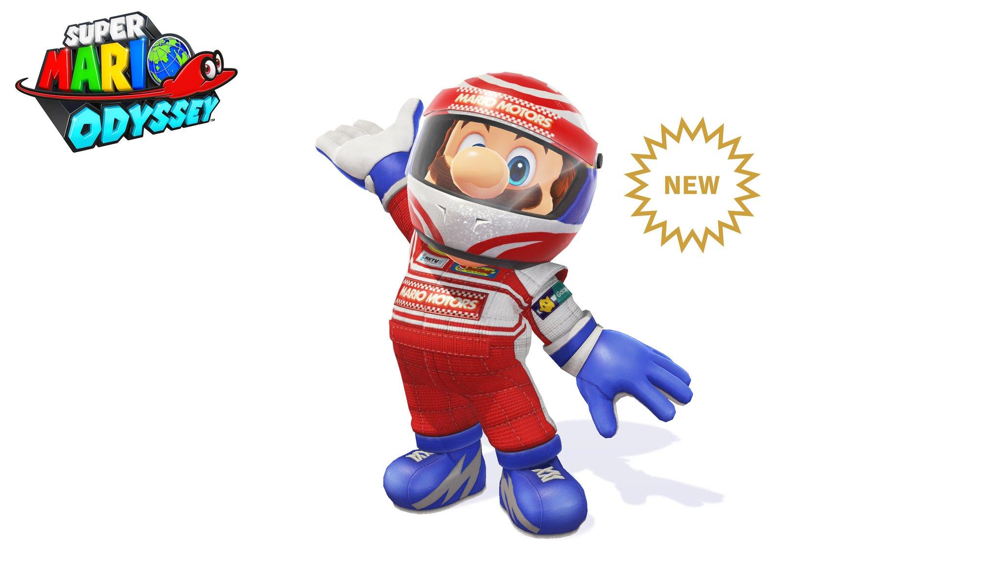 Mario has a sporty new look in Super Mario Odyssey screenshot