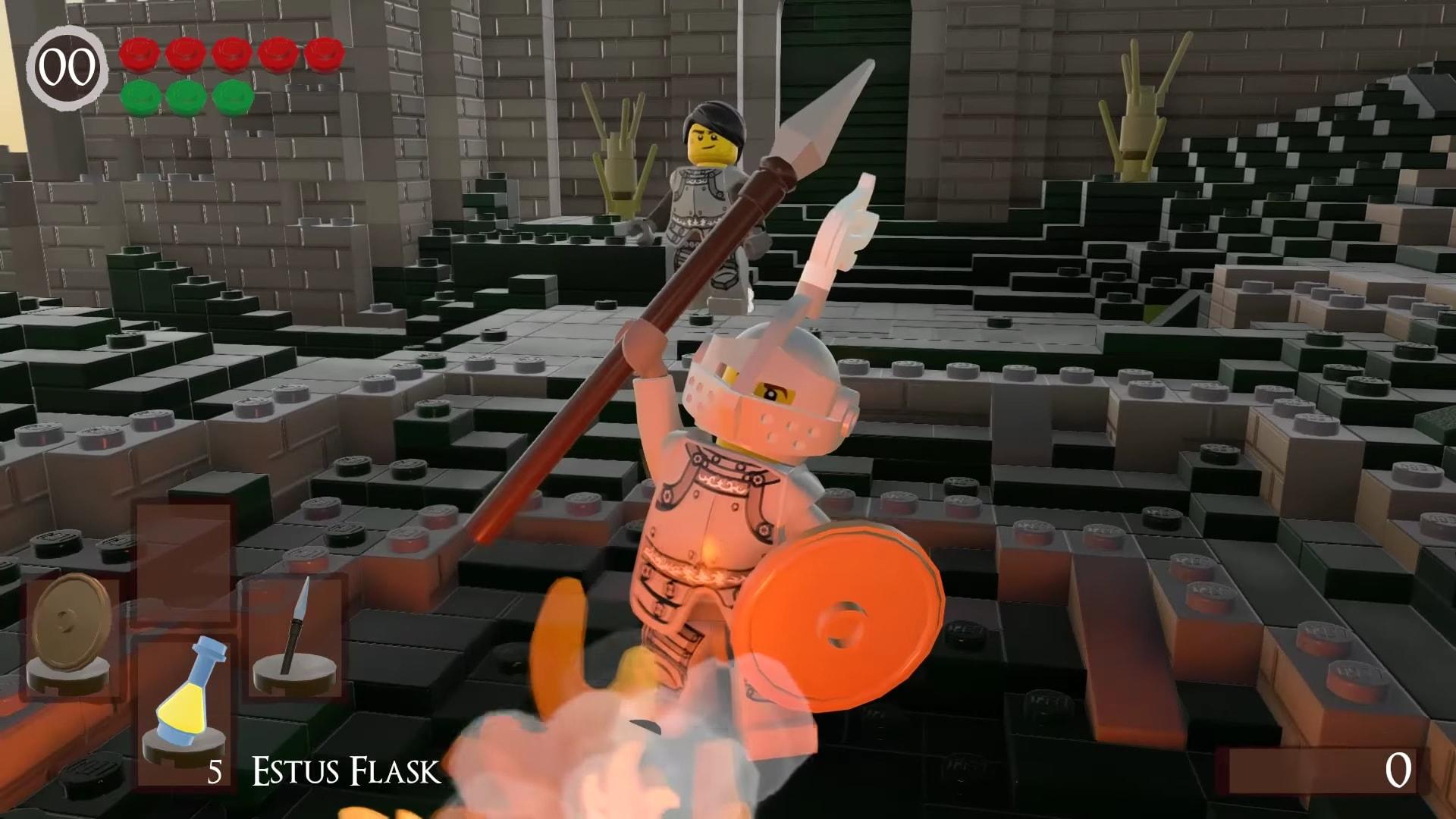 Dark Souls' Firelink Shrine looks snappy in Lego Worlds remake screenshot