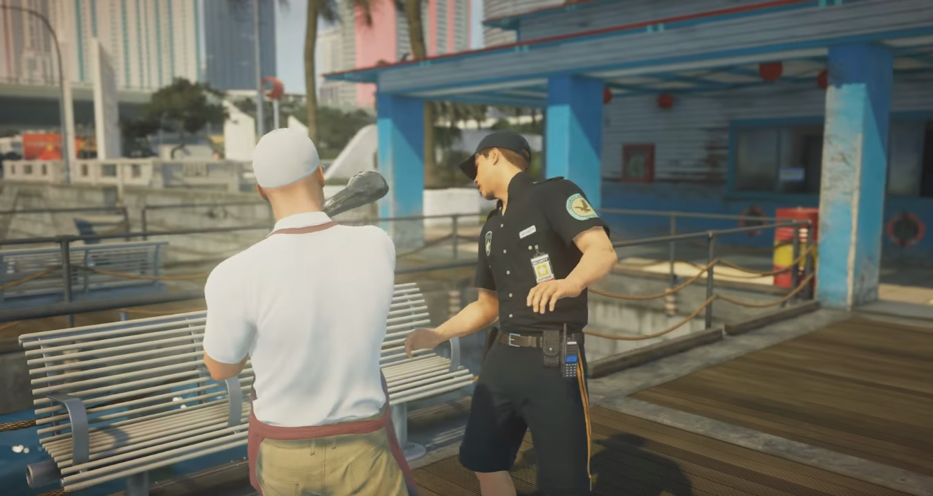 Hitman 2's first visit will be to Miami, lets you slap fools in the face with a fish screenshot