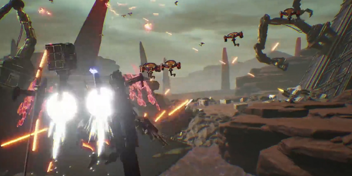 Nintendo confirms stylish mech shooter Daemon x Machina at E3 Nintendo Direct screenshot
