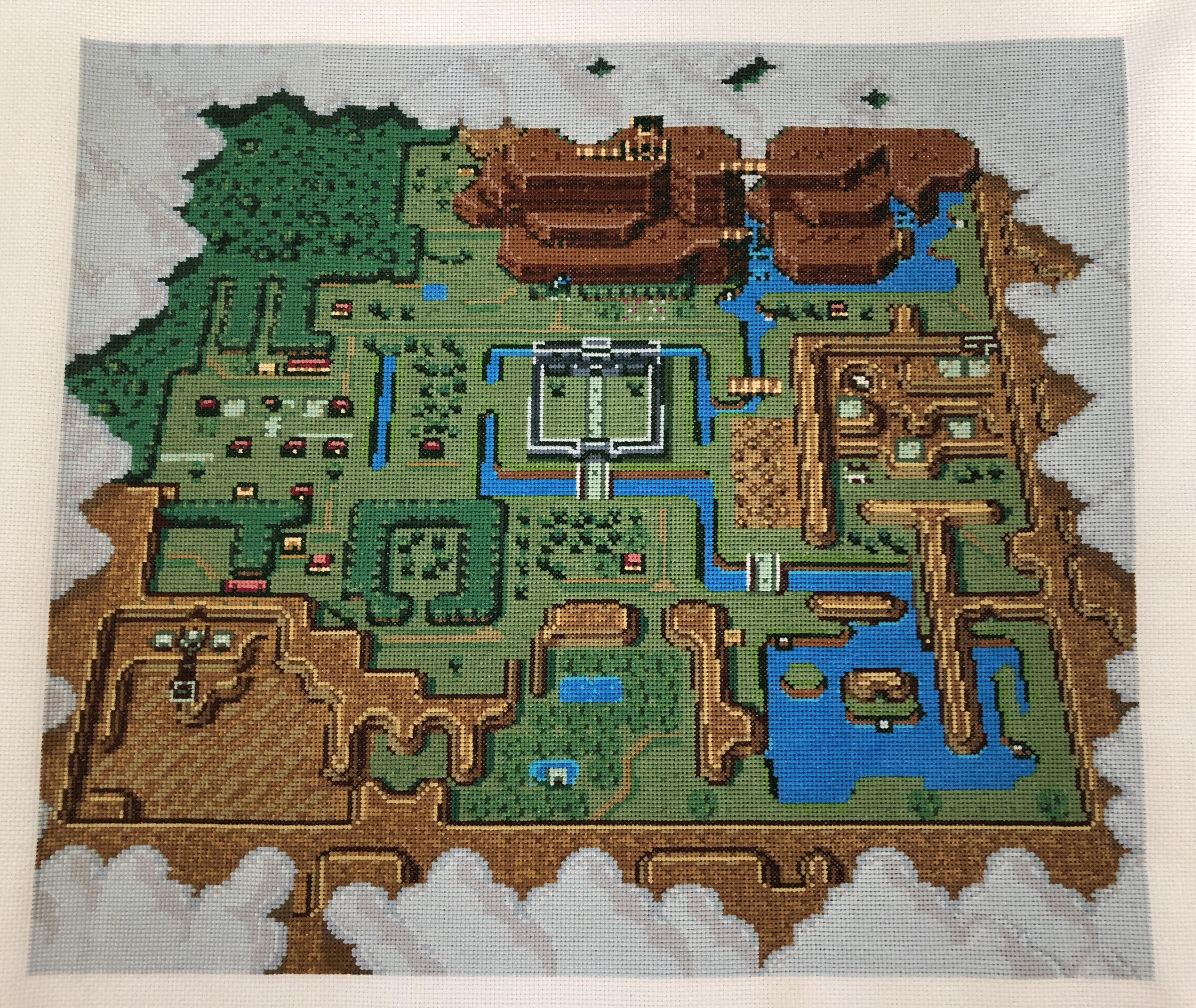 A Link To The Past Dark World Map.It Took Over 57 000 Stitches To Make This Baller Zelda A Link To
