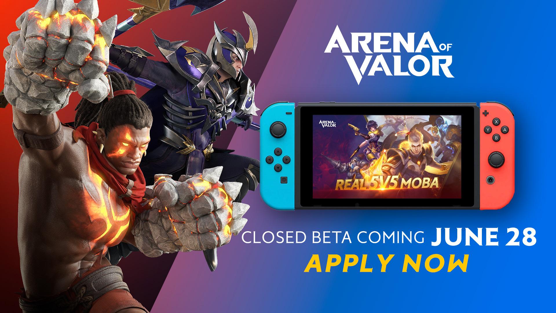 Arena Of Valor's Nintendo Switch Beta Starts Soon