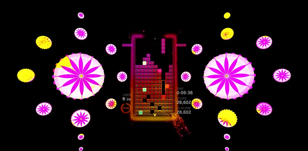 Check out a few minutes of the very pretty Tetris Effect right here screenshot