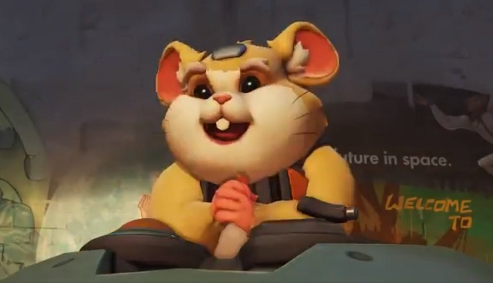 Overwatch Twitter reveals some frikkin' mech-based Hamster hero screenshot