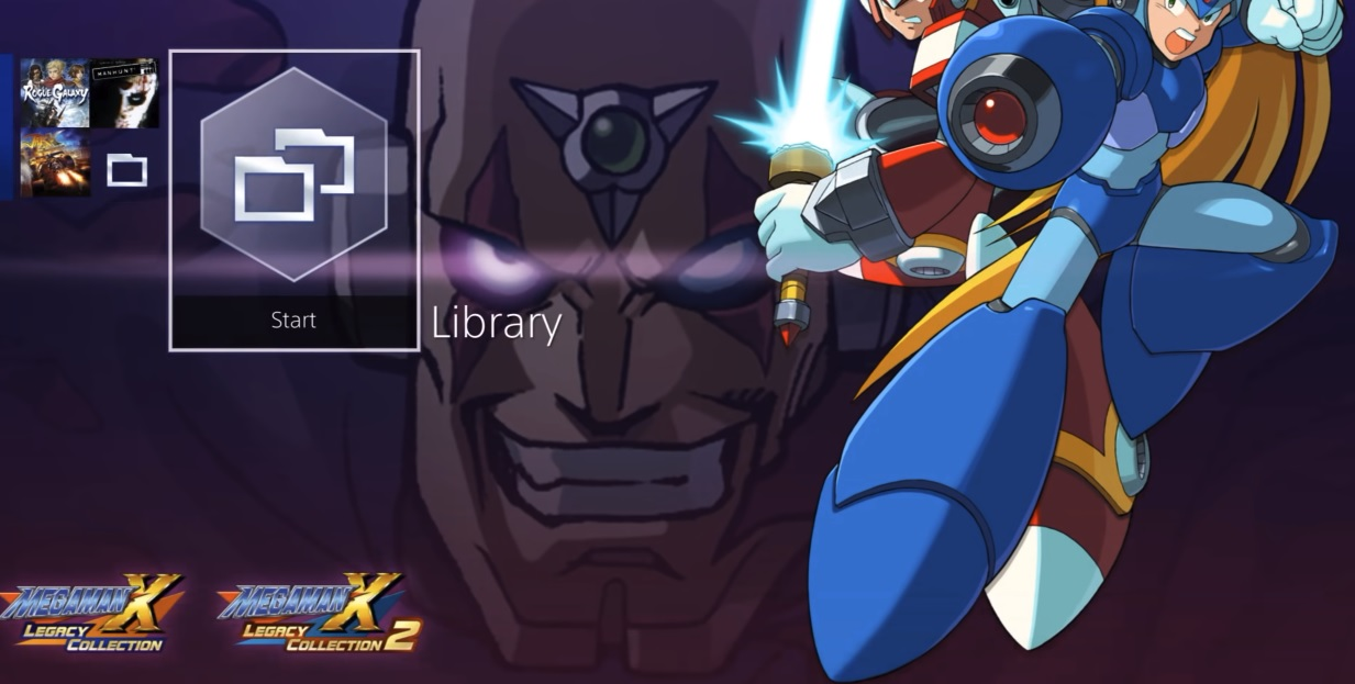 Mega Man X Legacy Collection pre-orders come with an X-centric theme on PS4 screenshot