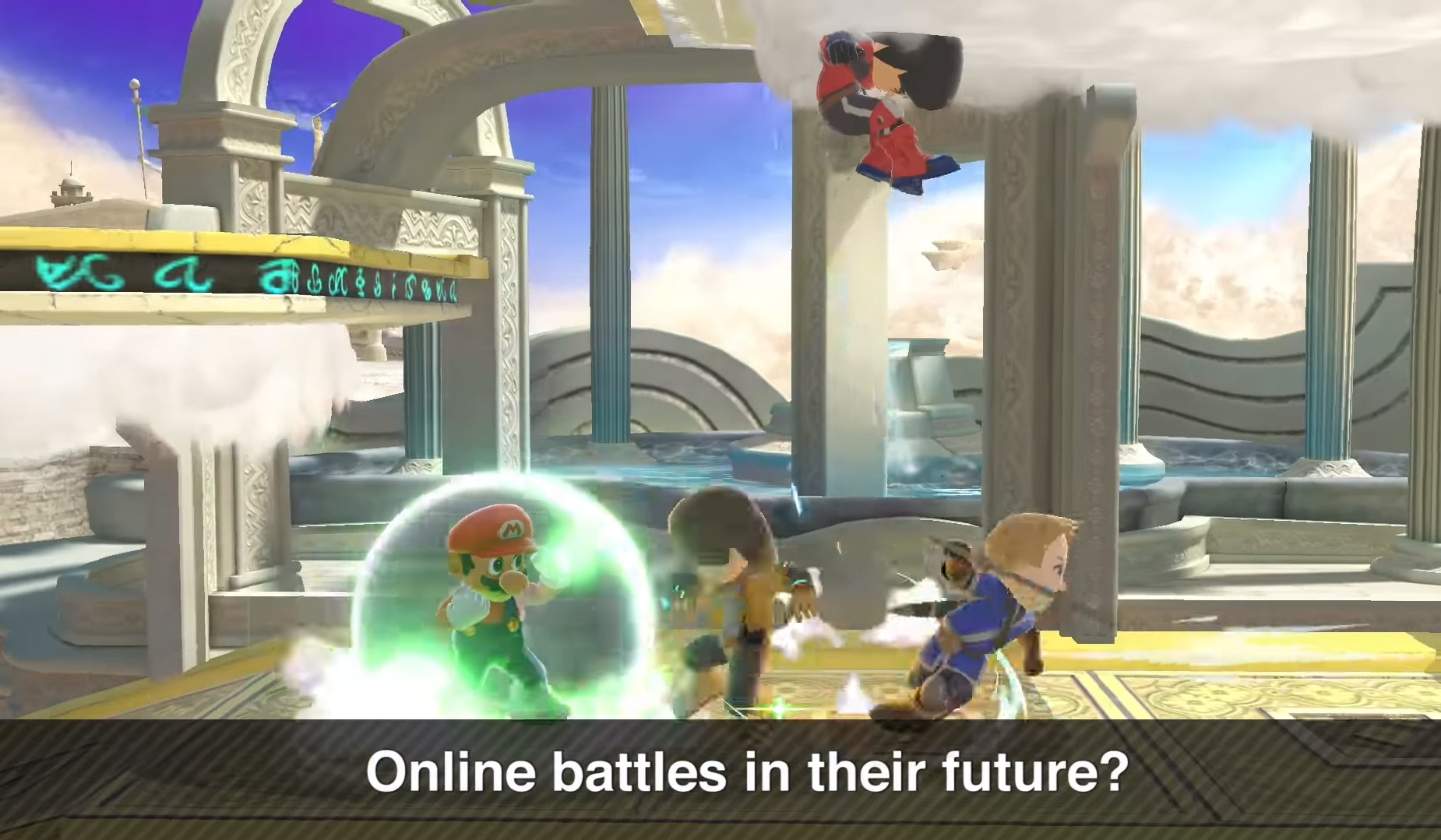 Smash Ultimate showing off Miis and teasing them in online battles