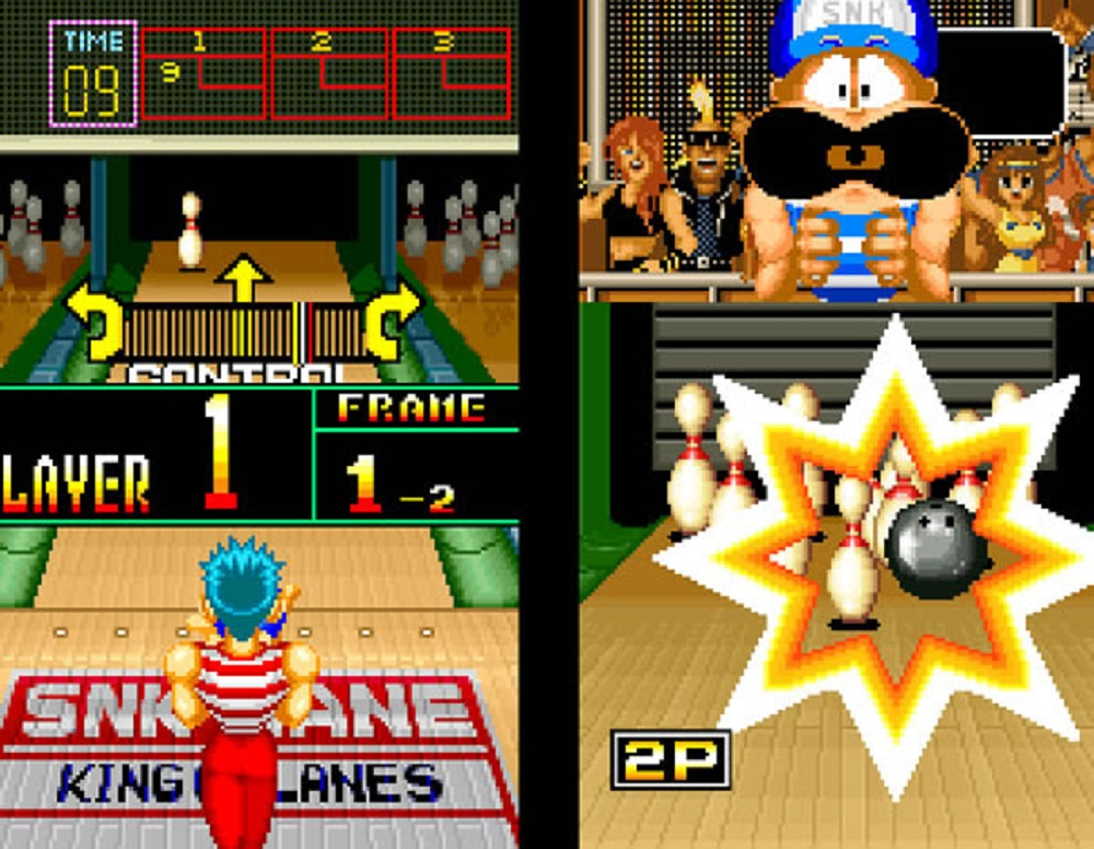 Go spare this weekend with SNK's Neo Geo League Bowling screenshot