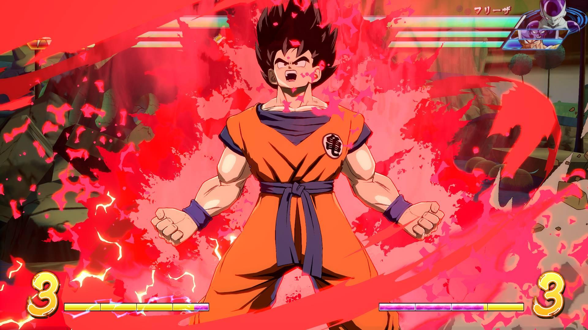 Bandai Namco gives us our first look at Dragon Ball FighterZ's Base Goku/Vegeta DLC screenshot