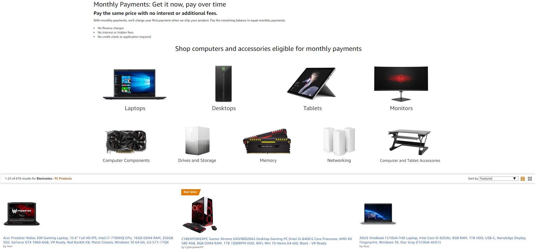 Amazon Now Lets You Finance Gaming Pcs And Pc Parts At Zero Interest