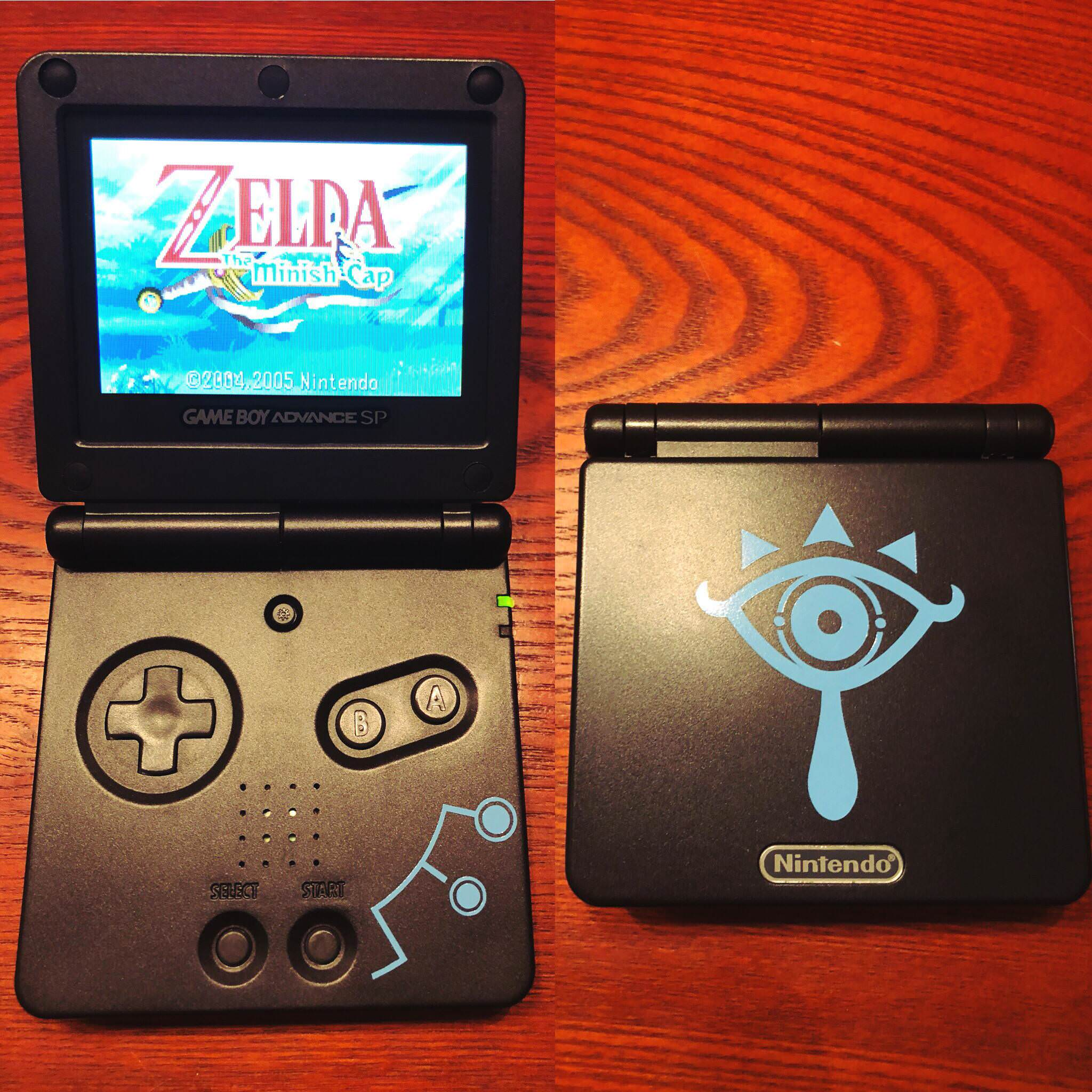 This low key custom Zelda: Breath of the Wild Game Boy Advance SP put me in the mood to play Minish Cap screenshot