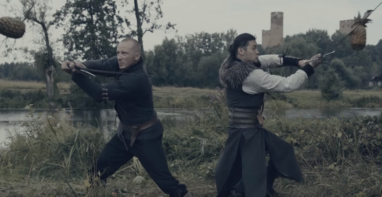 Professional sword instructor and Witcher mocap actor team up to slice some insidious fruit screenshot