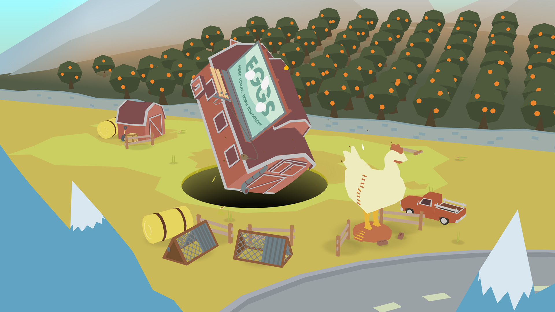 Hungry hole physics puzzler Donut County out next month screenshot