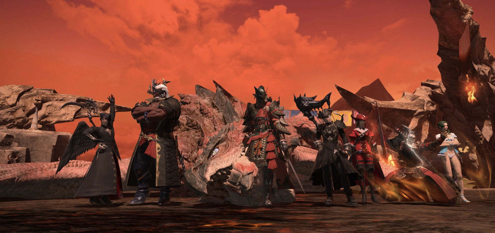 Final Fantasy XIV's Rathalos Monster Hunter event is fun, faithful, and best of all, permanent screenshot