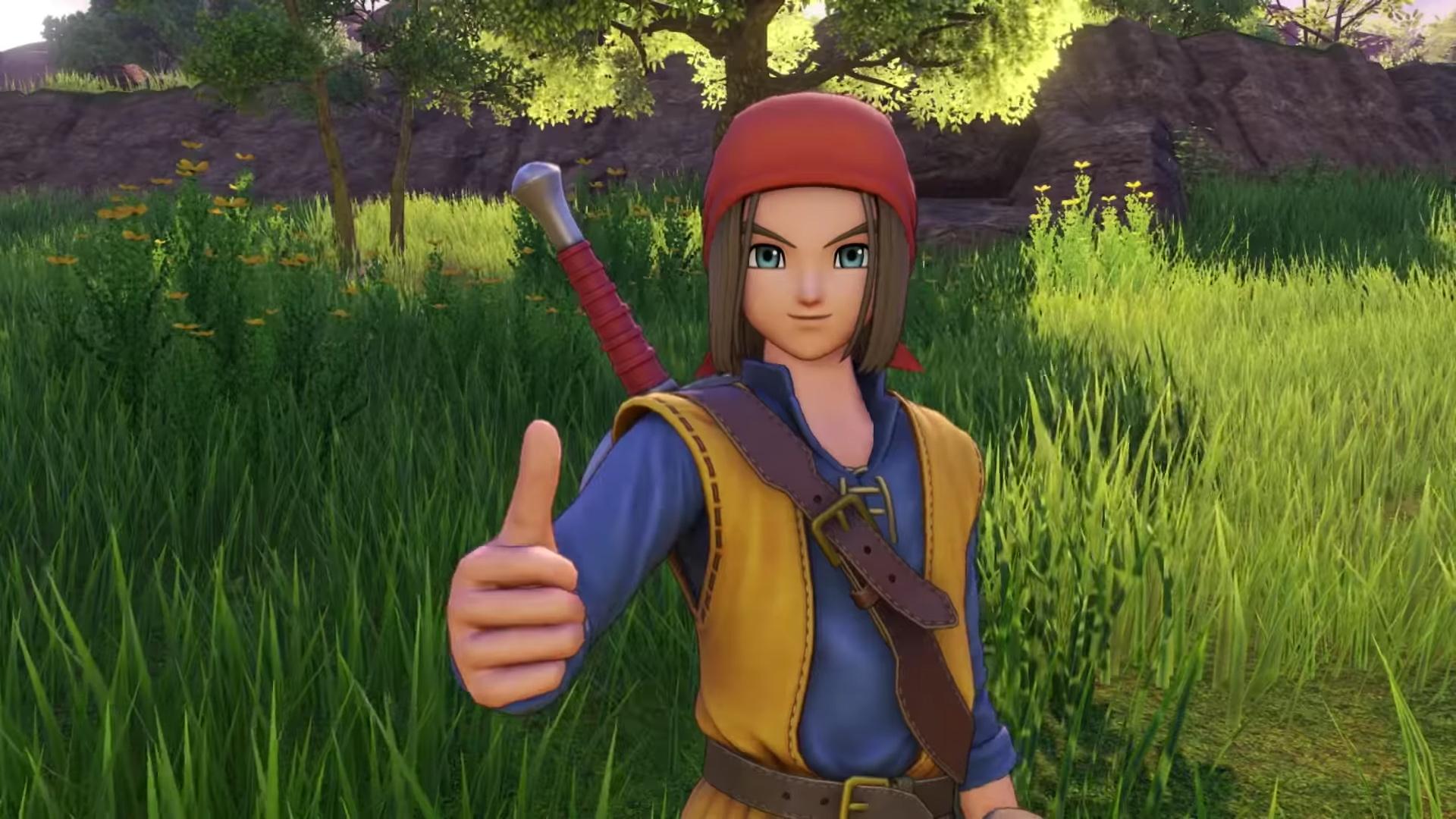 You can swap to a classic costume in Dragon Quest XI screenshot