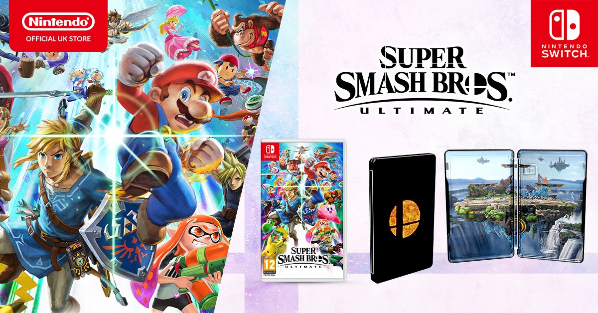UK Gamers are getting a Smash Ultimate steelbook and I'm jealous screenshot