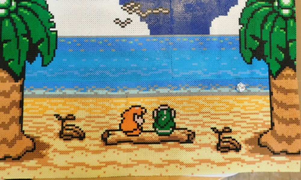 Link's Awakening is one of the best Zeldas, if not the best, and this bead art helps make the case screenshot